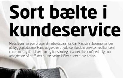 Carl Ras RSP sortbælte i kundeservice